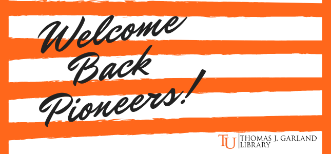 Welcome Back Pioneers!
