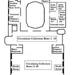 Map of the Upper level of the Library.