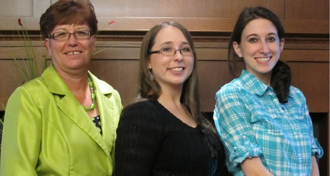 From left to right, Kathy Hipps, Crystal Johnson, and Lelia Heinbach.