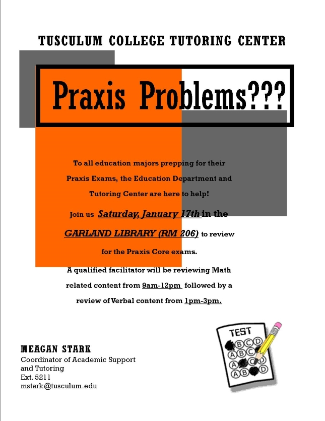 Praxis Core Review Flyer 645 x 835