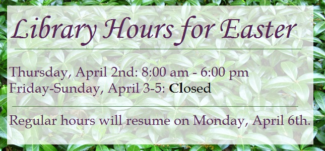 Easter hours 2015
