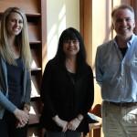 Student Support Services staff Sarah Gardner, Karen Cox and David Smith