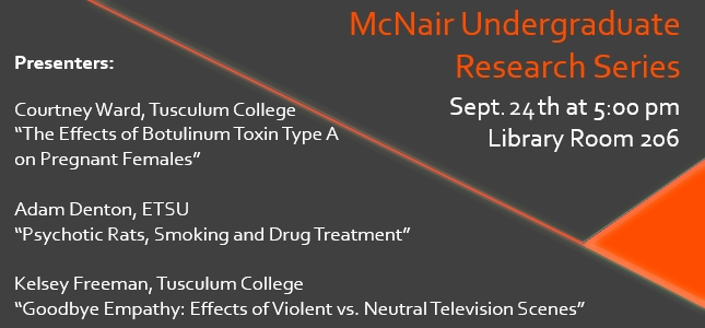 Mcnair undergraduate research series 1