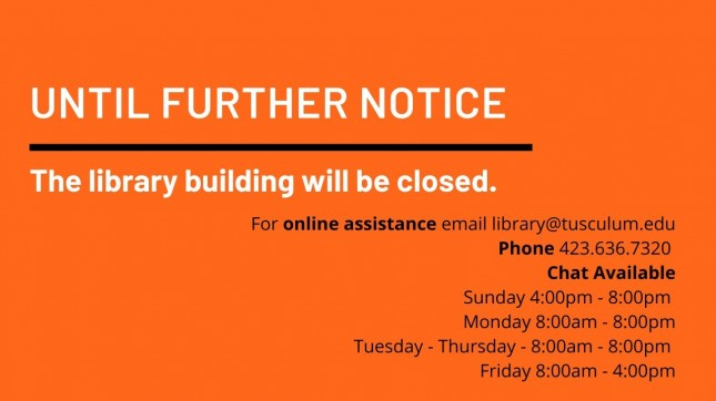 The library building is closed till further notice.