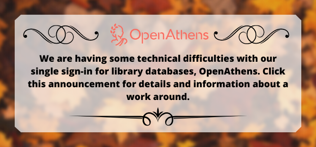 OpenAthens Issue Announcement